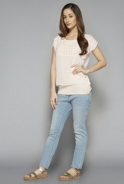LOV by Westside Pink Embellished Fiony Blouse