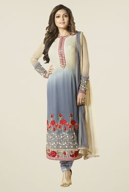 Touch Trends Multicolor Georgette Embroidered Dress Material