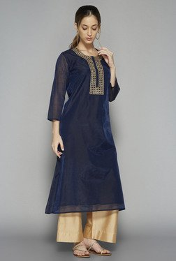 Utsa by Westside Indigo Embroidered Kurta