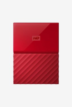 WD My Passport 1 TB Portable Hard Drive (Red)