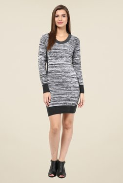 The Gud Look Grey Textured Dress