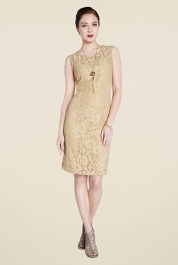 Park Avenue Beige Lace Dress