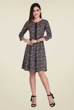 The Gud Look Multicolor Floral Print Dress