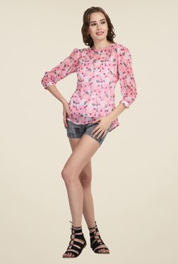 The Gud Look Pink Floral Print Top