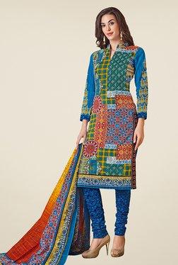 Salwar Studio Multicolor Cotton Dobby Printed Dress Material - Mp000000000667466
