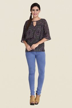 The Gud Look Multicolor Printed Frilled Top