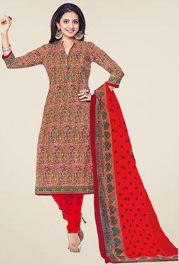 Salwar Studio Multicolor Cotton Paisley Print Dress Material