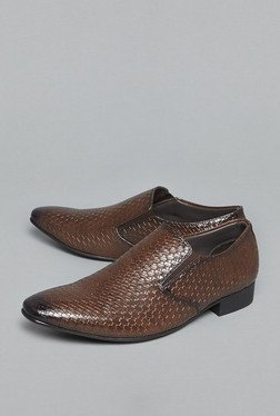 Azzurro by Westside Brown Slip-On Shoes