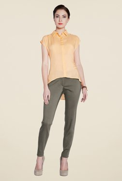 Park Avenue Olive Solid Chinos