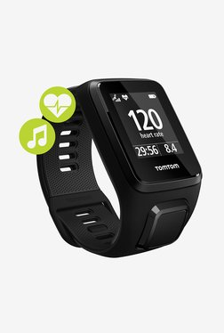 TomTom Spark 3 Cardio Music GPS Fitness Watch (Black, Large)
