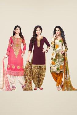 Salwar Studio Multicolor Dress Material (Pack Of 3) - Mp000000000668641