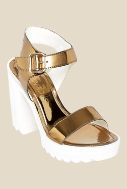 Catwalk Bronze Ankle Strap Sandals