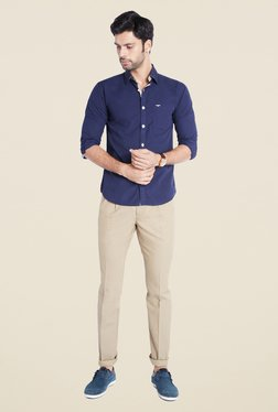 Park Avenue Navy Solid Shirt