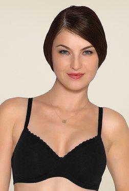 c9aa6ae3a1375 Amante Black Solid T-shirt Bra