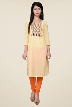 Juniper Cream Embroidered Kurta