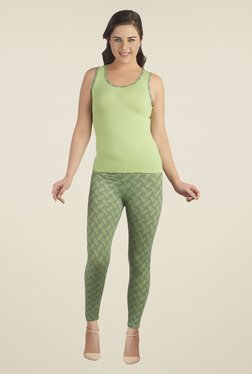 Soie Green Solid Pyjama Set