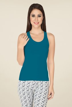 Soie Teal Solid Camisole