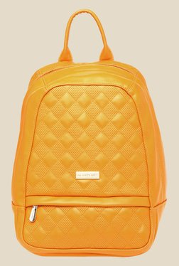 Addons Yellow Textured Backpack