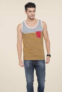 Cult Fiction Orange Striped T Shirt