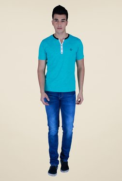 Lawman Turquoise Textured T Shirt