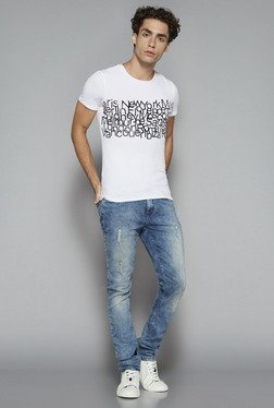 Nuon By Westside White Ultra Slim Fit T Shirt