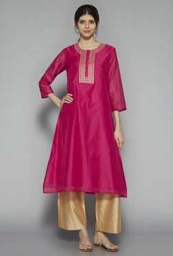 Utsa by Westside Pink Embroidered Kurta