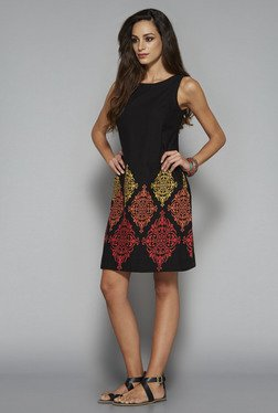 Bombay Paisley By Westside Black Sheath Dress