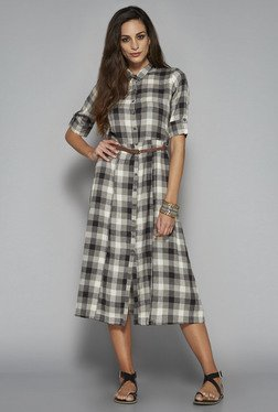 Bombay Paisley by Westside Grey Checks Dress