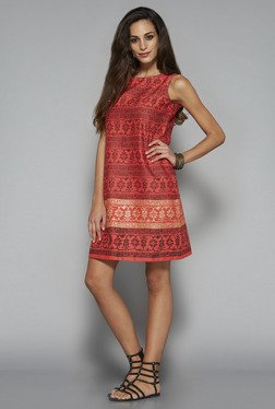 Bombay Paisley by Westside Coral Sheath Dress