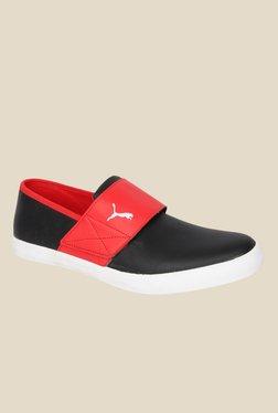 Puma El Rey Milano II DP Black & Red Casual Slip-Ons