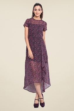 Pera Doce Purple Floral Print Dress