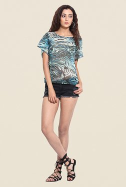 Pera Doce Green Tropical Print Top