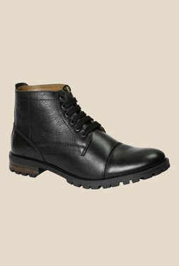 Red Chief Burnish Black Casual Boots