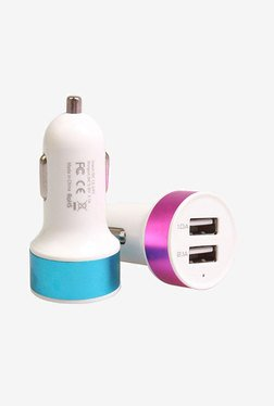 Novel Dual USB Car Charger (Assorted) (1 Pc)