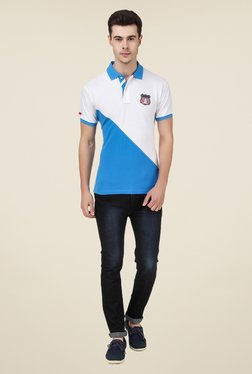 Spunk Blue Westward Polo T Shirt