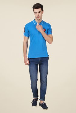 Spunk Blue Britain Polo T Shirt