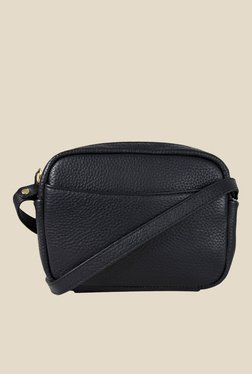 Da Milano Black Leather Sling Bag - Mp000000000688666