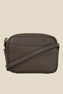 Da Milano Taupe Leather Sling Bag - Mp000000000688672