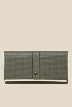 Da Milano Grey Textured Leather Wallet - Mp000000000688702