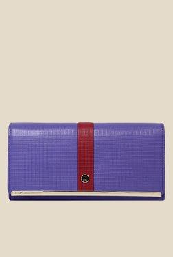 Da Milano Purple Textured Leather Wallet