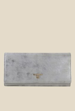 Da Milano Silver Leather Wallet