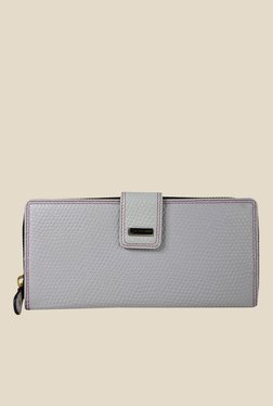 Da Milano Grey Textured Leather Wallet - Mp000000000688815