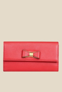 Da Milano Coral Red Leather Wallet