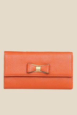 Da Milano Orange Leather Wallet