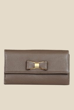 Da Milano Taupe Leather Wallet