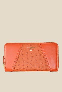 Da Milano Orange Textured Leather Wallet