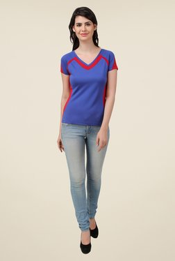 Spunk Blue Solid Cozy T Shirt