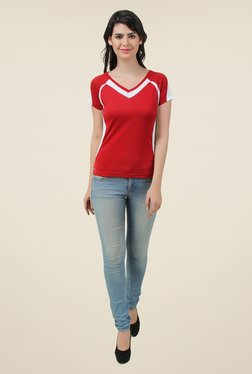 Spunk Red Solid Cozy T Shirt