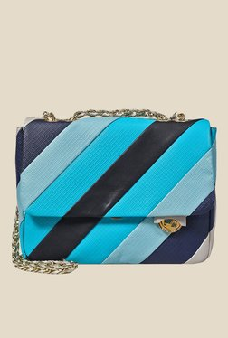 Da Milano Multicolour Striped Leather Sling Bag - Mp000000000688937