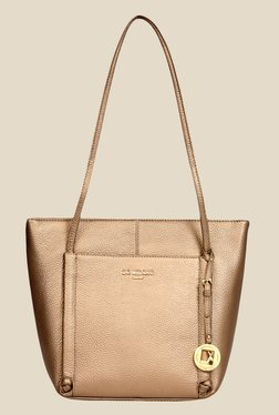 Da Milano Bronze Leather Tote Bag